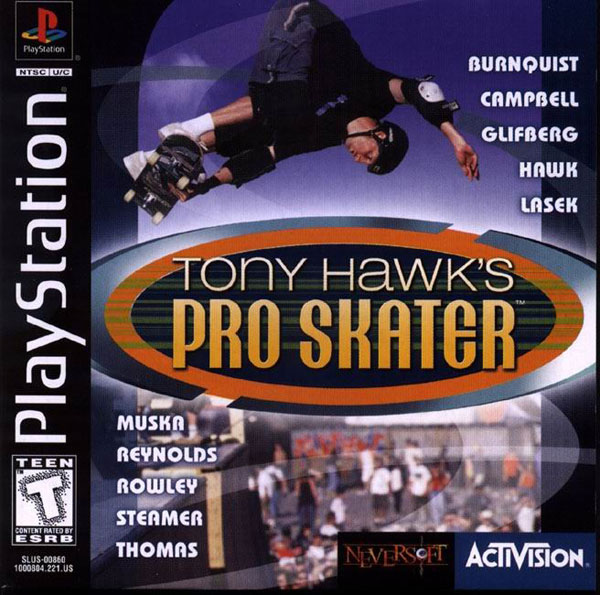 Tony Hawk's Pro Skateboarding [U] Front Cover